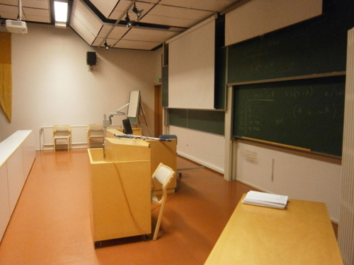 One of the classrooms in Mattilanniemi campus area
