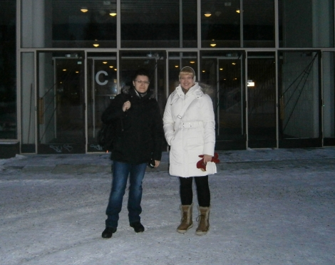 Me and Tanja getting some fresh air after the interview ;]